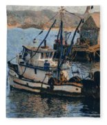 Monterey Fish Company Abstract Fleece Blanket