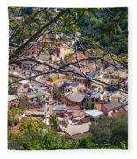 Monterosso From Above - Cinque Terre Fleece Blanket