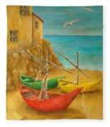 Monterosso On Riviera Di Levante Fleece Blanket