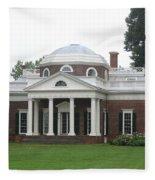 Monticello - Thomas Jeffersons Home Fleece Blanket
