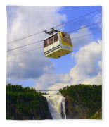 Montmorency Falls And Gondola Fleece Blanket
