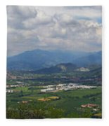 Montorfano. A View To Lake Iseo Fleece Blanket