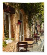 French Cafe Fleece Blanket
