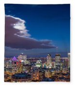 Montreal By Night Fleece Blanket