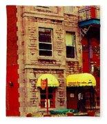Montreal Memories Restaurant Chez Orphee 362 Fairmount Cb Spandau Montreal Premier City Scene Artist Fleece Blanket