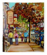 Montreal Streetscenes By Cityscene Artist Carole Spandau Over 500 Montreal Canvas Prints To Choose  Fleece Blanket