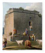 Monument Between Tripoli And Tortosa Fleece Blanket
