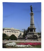 Monument Of Freedom Fleece Blanket