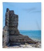 Monument Ruins Fleece Blanket