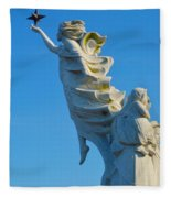 Monument To The Immigrants Statue 1 Fleece Blanket