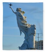 Monument To The Immigrants Statue 2 Fleece Blanket