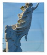 Monument To The Immigrants Statue 4 Fleece Blanket