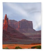 Monument Valley At Sunset Panoramic Fleece Blanket
