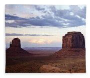 Monument Valley At Sunset Fleece Blanket