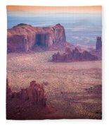Monument Valley From Hunts Mesa Fleece Blanket