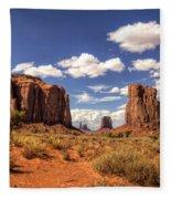 Monument Valley - North Window Overlook  Fleece Blanket