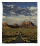 Monument Valley Panorama Fleece Blanket