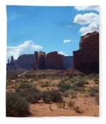 Monument Valley Scenic View Fleece Blanket