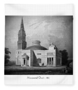 Monumental Church - 1812 Fleece Blanket