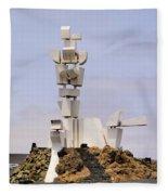 Monumento Al Campesino On Lanzarote Fleece Blanket