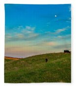 Moo Moon Fleece Blanket