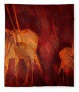 Moods Of Africa - Gazelle Fleece Blanket
