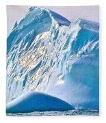 Moody Blues Iceberg Closeup In Saint Anthony Bay-newfoundland-canada Fleece Blanket