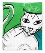 Moody Cat- Pop Art Fleece Blanket