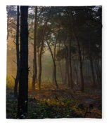 Moody Forest Happy Sun Fleece Blanket