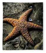 Moody Starfish II Fleece Blanket
