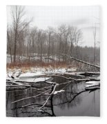 Winter's Moods Fleece Blanket