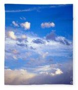 Moon And Clouds Fleece Blanket