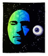 Moon Eye Bi Color Fleece Blanket