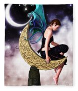 Moon Fairy Fleece Blanket
