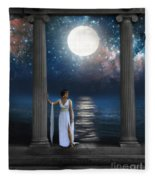 Moon Goddess Fleece Blanket