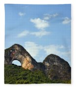 Moon Hill, Yangshuo, China Fleece Blanket