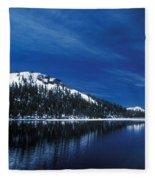 Moon - Lake Fleece Blanket