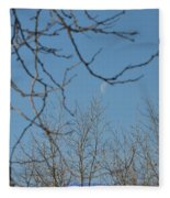Moon On Treetop Fleece Blanket