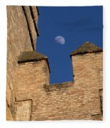 Moon Over Alcazar Fleece Blanket