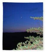 Moon Over Mountain Fleece Blanket