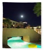 Moon Over The Casino Fleece Blanket