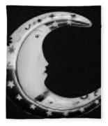 Moon Phase In Black And White Fleece Blanket