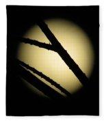 Moon Through The Branches Fleece Blanket