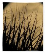 Moon Through The Palms Fleece Blanket