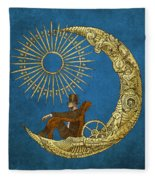 Moon Travel Fleece Blanket