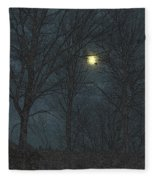 Moon Tree Fleece Blanket