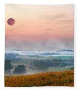 Moon Valley Morning Fleece Blanket