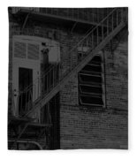Moonlight Fire Escape Usa Near Infrared Fleece Blanket