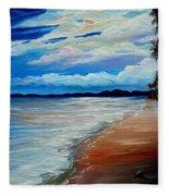 Moonlight In Tobago Fleece Blanket