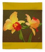 Moonlight Lady Orchid Fleece Blanket